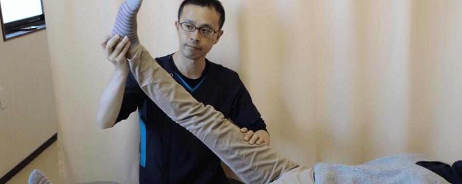 足底筋膜炎施術風景